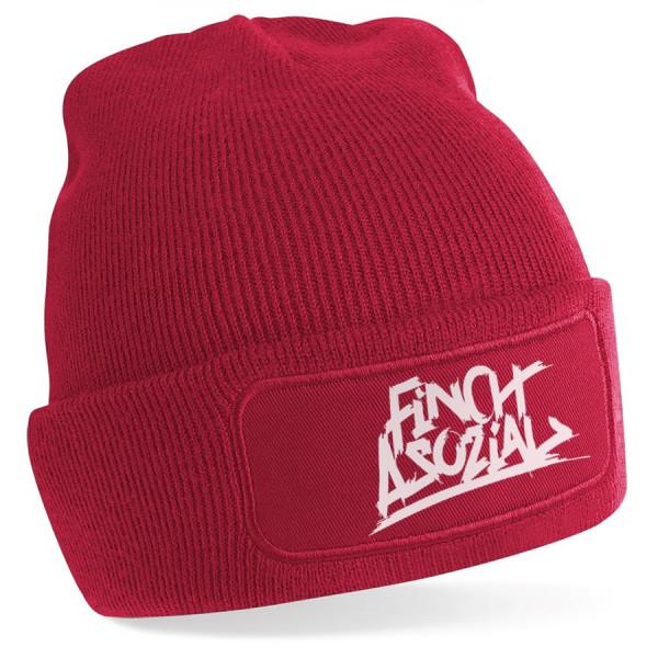 """FiNCH ASOZiAL """"Logo"""" Beanie rot"""