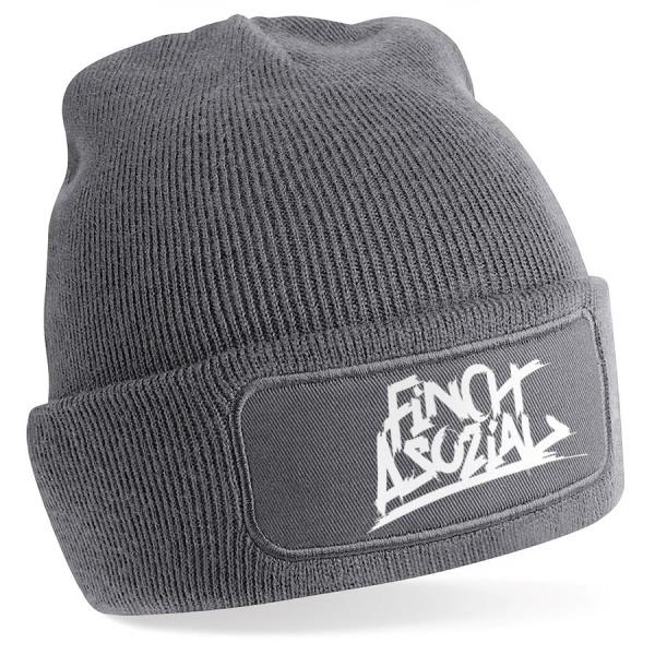 """FiNCH ASOZiAL """"Logo"""" Beanie grau"""